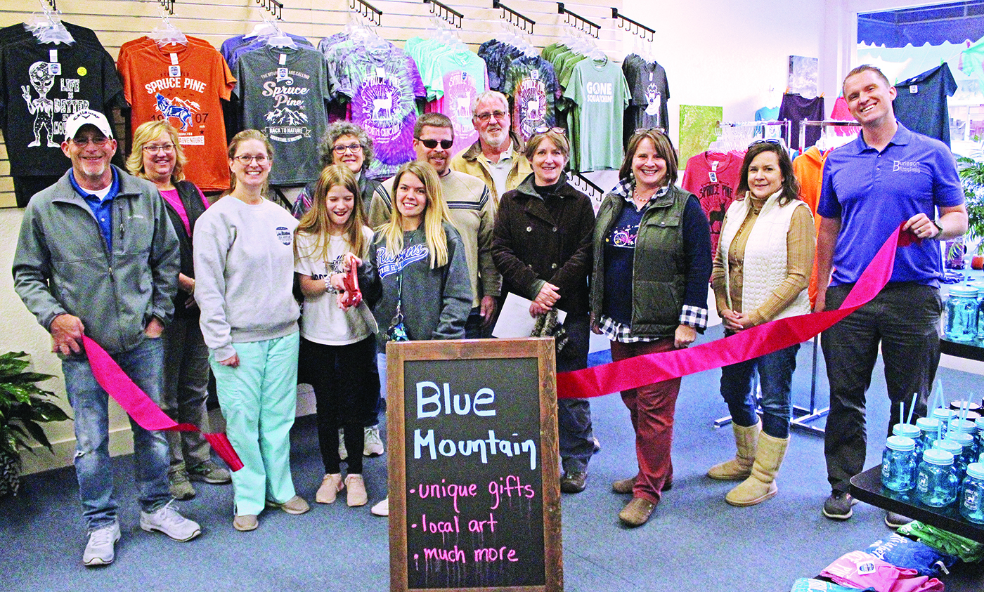 New business Blue Mountain had its official ribbon-cutting ceremony Wednesday, Nov. 13, in downtown Spruce Pine.