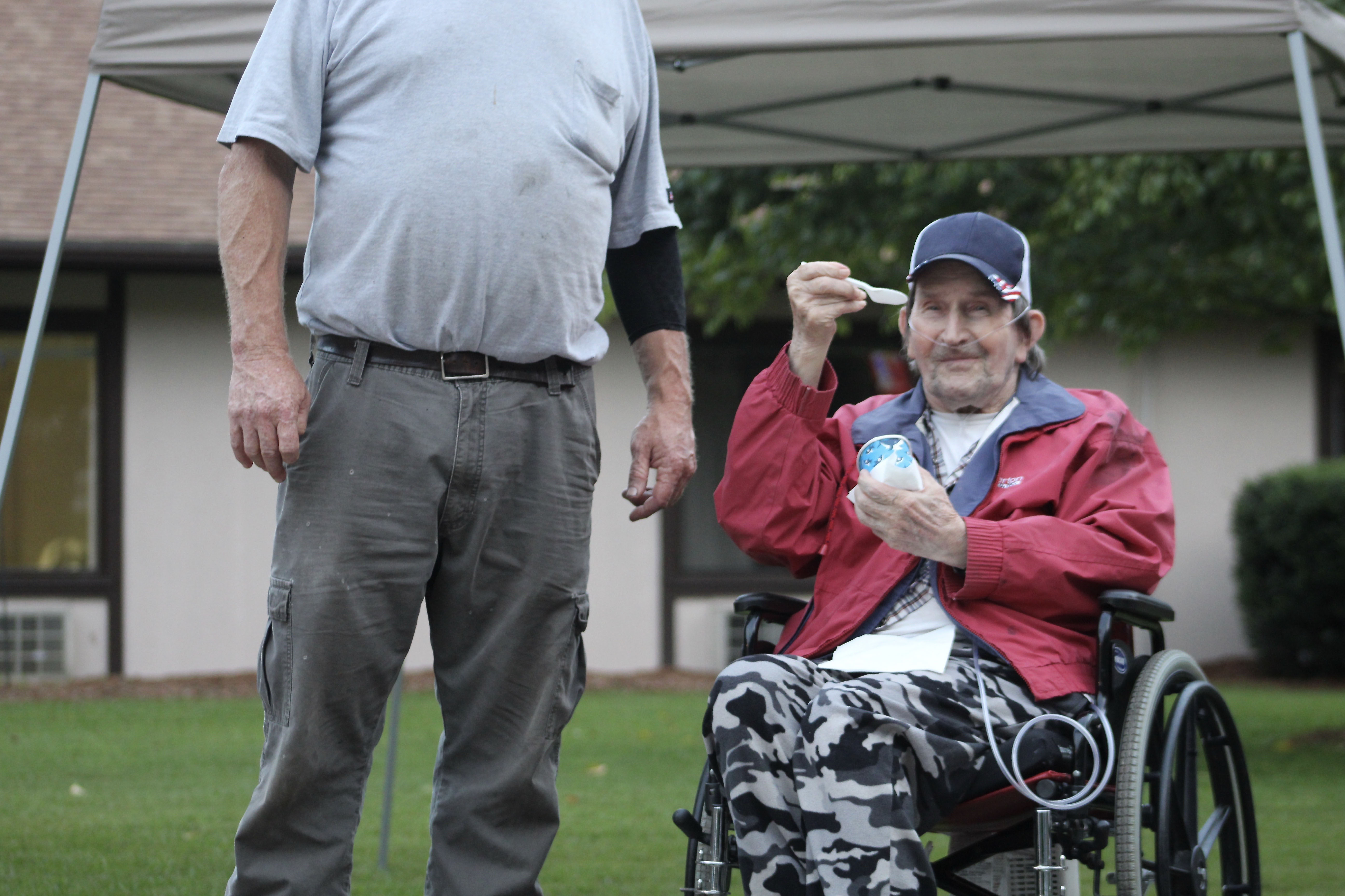 A Brian Center resident enjoys a frozen treat from Fire & Ice Snowballs & Ice Cream as he waits for the fireworks show to begin on Thursday, Aug. 20. (MNJ Photo/Juliana Walker)