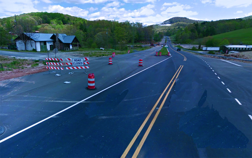 The orange cones and barricades on U.S. 19E are now gone as the highway widening project is finished. The $64.9 million project widened eight miles of U.S. 19E from Yancey County. (MNJ photo/Cory Spiers)