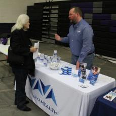 Mitchell County DSS Director Sara Ross said Monday, Nov. 4, during a meeting of the DSS Board more than 200 people, 40 vendors and 200 vendor participants attended the Medicaid Transformation and Community Resource Fair Saturday, Nov. 2, at Mitchell High School, during which 74 people were screened for enrollment and 67 were enrolled. (Brandon Roberts/MNJ)