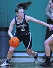 Marley Cloer fights for space in the paint in 2019. (MNJ file photo)