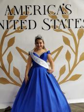 Katelynn Sillman poses for a photo while wearing her pageant attire. Sillman, 10, was crowned Miss Pre-Teen North Carolina earleir this month and received a sash and crown. (Submitted photo)